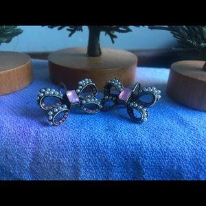 Betsy Johnson Pretty Bow Earrings